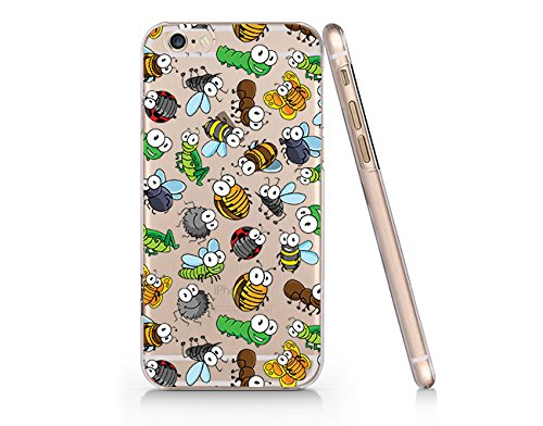 Insect World Ladybug, Worm Clear Transparent Plastic Phone Case/Phone Cover for iphone 6 6s _ SUPERTRAMPshop (iphone 6)