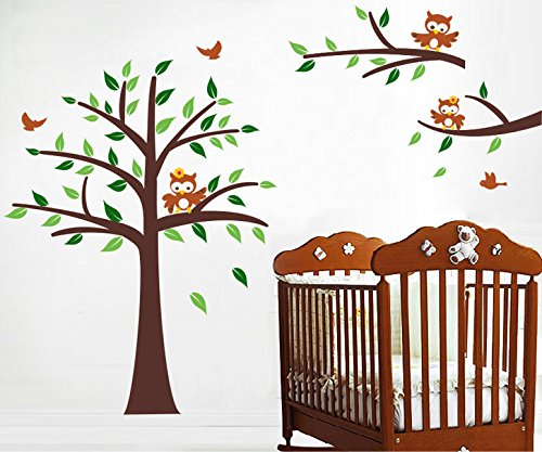 Pop DecorsNursery//Owls Beautiful Wall Stickers for Kids Rooms PT-0163-Vb