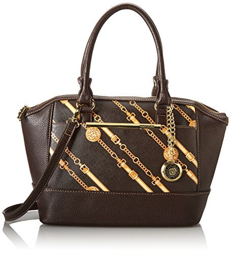 Anne Klein Leo Lizard Satchel Cocoa/gold One Size