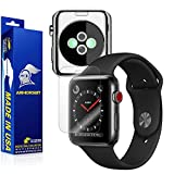 ArmorSuit MilitaryShield Full Body Skin + Max Coverage Anti-Bubble Screen Protector Compatible with Apple Watch 42mm (Series 3) - HD Clear