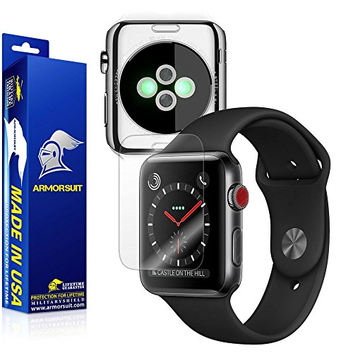 ArmorSuit ArmorSuit MilitaryShield Clear Full Body Skin + Max Coverage Screen Protector for Apple Watch 42mm (Series 3) - HD Clear price tips cheap