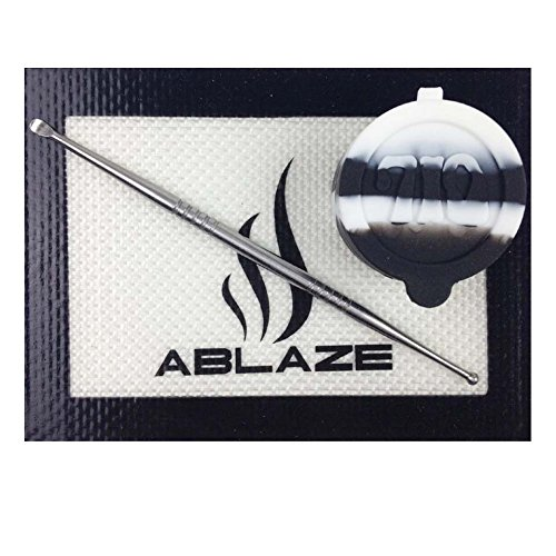 ABLAZE Black Nonstick Non Stick Wax Silicone Mat Pad Container Jar Tool 710 SYNCHKG127859