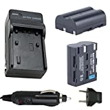 Battery (2-Pack) and Charger for Pentax D-LI50, D-L150 Rechargeable Li-ion Battery