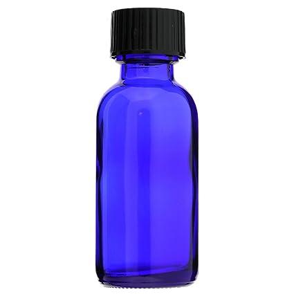 Boston Redondo 1 oz 30 ml azul cobalto botellas de vidrio con tapas de cono de