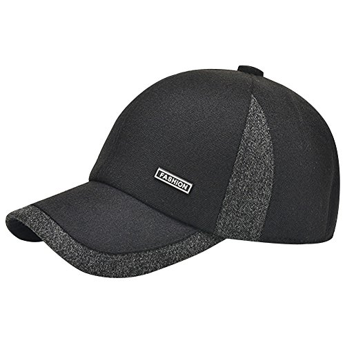 eYourlife2012 Men Winter Warm Woolen Tweed Baseball Fold Earmuffs Earflap Hunting Hat Hats Cap