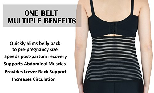 Luxe-Phillips Hospital Grade Postpartum Belly Wrap with Breathable Technology. Active Compression Quickly Reduces The Size of The Uterus Post Pregnancy for Faster Slimming Results. (Large) by Luxe-Phillips (Image #3)