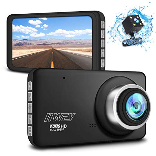Dash Cams for Cars 1080P FHD Front and Rear, HD 720P Rear Cam Dual Dash Camera...