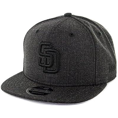 "New Era 950 ""Total Tone"" San Diego Padres Snapback Hat (Heather Black) Men's Cap"