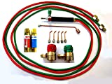 Devardi Glass Jewelers' Micro Torch Kit w/Regulators, Flash Arrestors, Rosebud, 5 tips, For Disposable Tanks