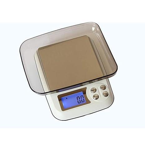 GSJJ Portátil Inoxidable Báscula Cocina Tara Temporizador función, Escala de Alimentos, Digital Alta precisión