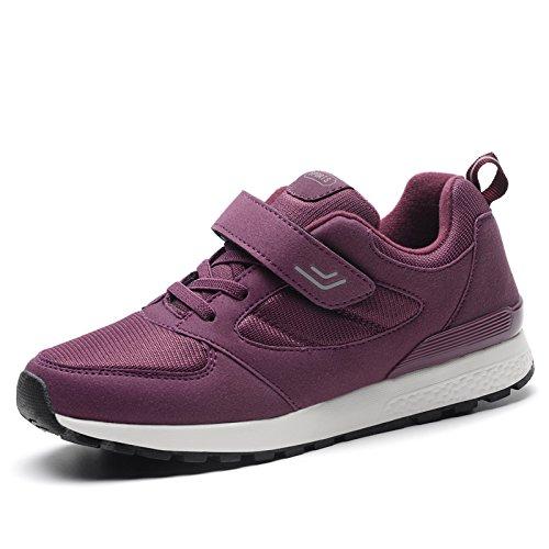 Hasag Zapatillas Antideslizantes Femeninas de Primavera y Verano Zapatos de Madre de Fondo Suave Zapatos de Viaje de Ocio Zapatos Netos Transpirables A2 purple