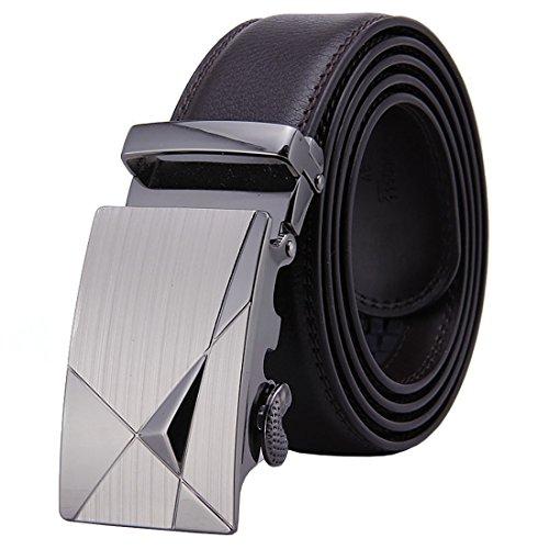 Faux Leather Belt Strap (ForeverBelts Men's Faux Leather Ratchet Belt Silver With Black Strap)