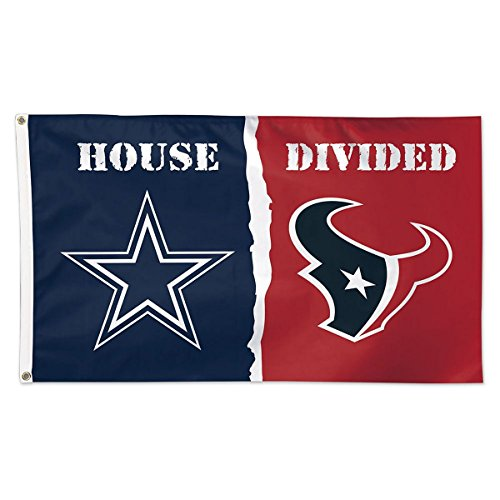NFL House Divided Flag 3x5 Dallas Cowboys vs Houston Texans ()