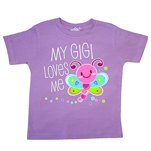 inktastic - My Gigi Loves Me- Cute Dragonfly Toddler T-Shirt 3T Lavender 305a1