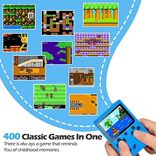 Gamory Retro Games Console, Gameboy Portable handheld games Console with 400 Classical Games & 2.8-Inch Color Screen for 2 Players Support TV Handheld Kids Games Consoles Play 5 Hours+ for Kids Adults