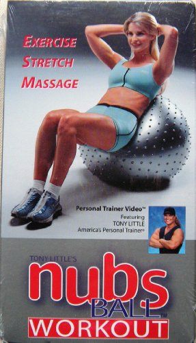 Tony Little's nubs Ball Workout (Exercise, Stretch, Massage) [VHS] /// NUBS BALL SOLD SEPARATELY
