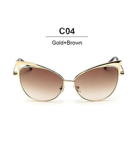 bd06df298c6eff Mode nouvelle Cat Eye Luxury 2018 Lunettes de soleil Femme Twin-Beam marque  Designer Hommes