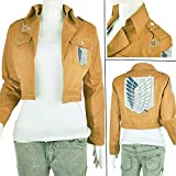 Cosplay Jacket Attack On Titan, Scouting Legion Coat Corps Uniform for Eren Mikasa Cosplay