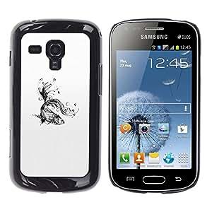 iKiki Tech / Estuche rígido - Water Splashes Black White Art - Samsung Galaxy S Duos S7562