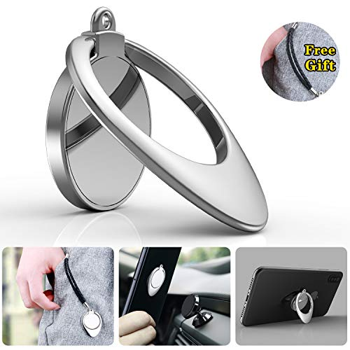 Phone Ring Holder Finger Kickstand - Water Drop Shape Phone Ring Stand Compatibles with Magnetic Phone Car Mount, iphoneX/8/8 Plus/7/7 Plus, Samsung Galaxy S9/S9+/S8/S8+/Note 8, GPS Navigation