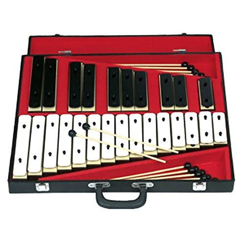 Rhythm Band 25 Note Chromatic Plastic Resonator Bell Set by Rhythm Band