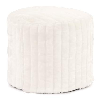 Amazon Howard Elliott 4040 Pouf Ottoman Tall Mink Snow Best Tall Pouf Ottoman
