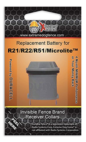 Invisible Fence Collar Compatible Battery - Long Life High Performance Dog Fence Battery - 4 Month Minimum Life on ALL Invisible Fence Brand Collar (R51 Dog Collar Battery)