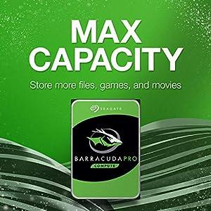 Seagate BarraCuda Pro 2TB Internal Hard Drive Performance HDD – 3.5 Inch SATA 6 Gb/s 7200 RPM 128MB Cache for Computer…
