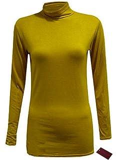66 Fashion District - Camiseta de Manga Larga - Básico - para Mujer 918dc4ed0550