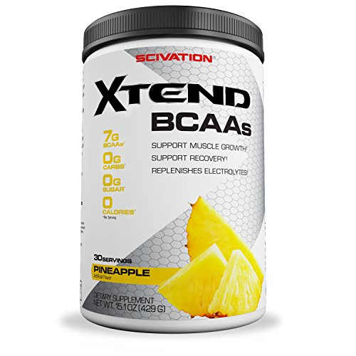 Scivation Xtend BCAA Powder, Branched Chain Amino Acids, BCAAs, Pineapple, 30 Servings