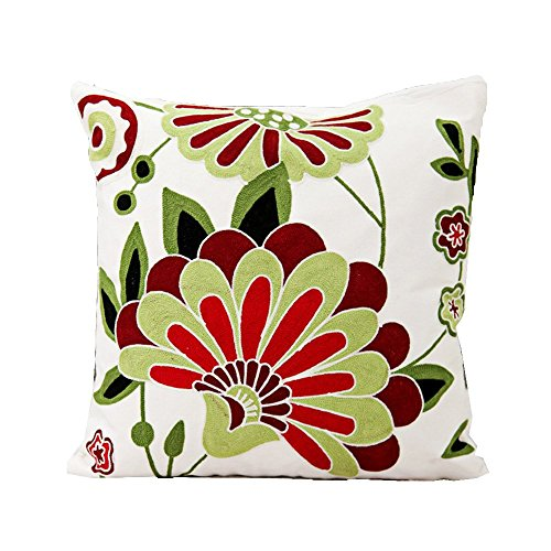 Monkeysell Ethnic Style ,Hand-embroidered Throw Pillow Cover Case Hand Woven Pillowcase 18
