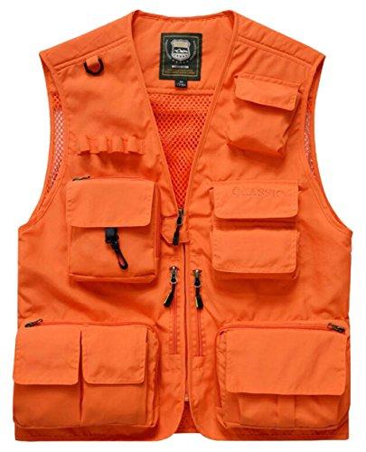 Chasse Pêche Gilet Air Plein De Travail Poche Orange Fishing Homme 7qawxpE0q