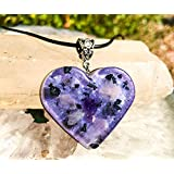 Shungite Orgonite Necklace/Crystal Heart Pendant