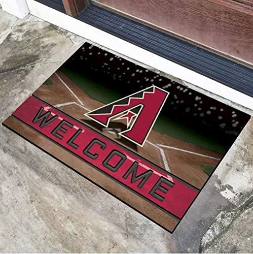 (1 Pc Multi MLB Arizona Diamond Backs Door Mat Rug,Beautiful American Baseball League Team Soft 18 X 30 Rug, Non-Slip Backing Heavy Rubber Sports Theme Comfortable 3D Molded Welcome Mat Outdoor Rug )