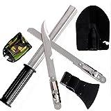 Meanhoo 9-in-1 Emergency Shovel Tool Kit