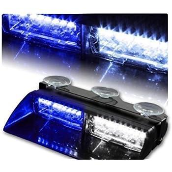 Car 16 led high intensity led law enforcement emergency hazard warning strobe lights for Interior car light laws california