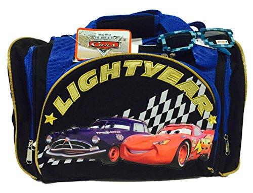 Disney Cars Lightning McQueen Duffle Bag and One Stylish Sunglasses Set -