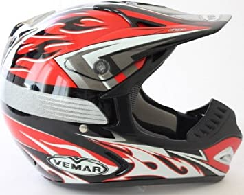 VEMAR offroad casco Antenor VRX5 C205 rojo tamano : XL