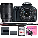 Canon EOS Rebel SL2 Digital SLR Camera Body with Canon EF-S 18-135mm 3.5-5.6 IS USM - (WiFi Enabled) + Camera Works Premium Cleaning Solution + 32GB High-Speed Memory Card