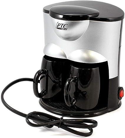 PTC Duo - Cafetera eléctrica, 24 V, con 2 tazas de cerámica ...