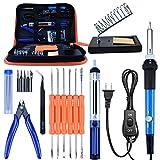 Soldering Iron Kit, Kusonkey Adjustable Temperature Welding Soldering Iron 60W 110V Portable Soldering Iron with PU Carrying Case