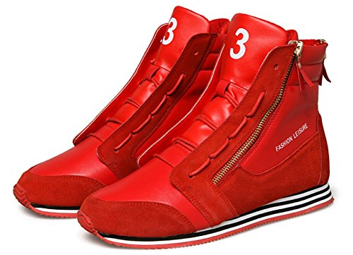 Jiye Performance Sports Zapatos Mujeres Bádminton Running Zapatos Moda Sneskers, Baloncesto Zapato Rojo