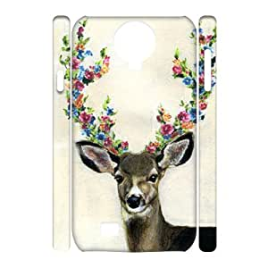 T-TGL(RQ) Samsung Galaxy S4 I9500 3D Personalized Phone Case Giraffe with Hard Shell Protection
