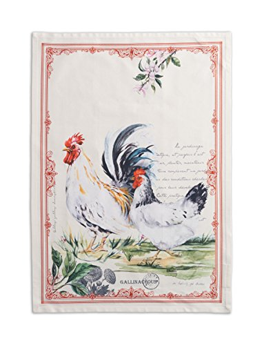 Maison d' Hermine Campagne 100% Cotton Set of 2 Kitchen Towels, 20 - inch by 27.5 - inch.