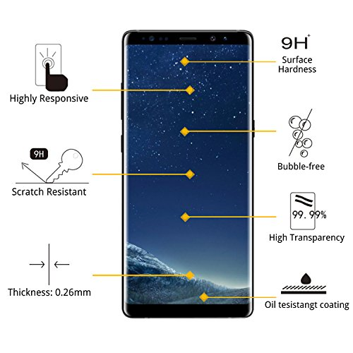 [2-PACK] Galaxy S8 Plus Screen Protector Glass [Easy Installation Tray], iAnder 3D Curved [Tempered Glass] Screen Protector for Galaxy S8 Plus S8+ [Case Friendly] by iAnder (Image #1)