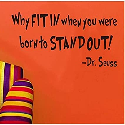 Amazoncom Livegallery Removable Vinyl Quotes Dr Seuss Why Fit In