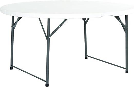 Mesa redonda plegable aluminio, diámetro: 150 cm-Mesa plegable de ...