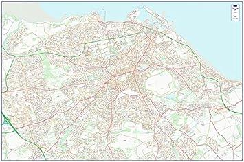 City Street Map - Edinburgh - Colour - Photo Paper: Amazon ...
