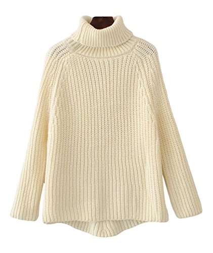 Pullovers Pulls Longues Femme Roul Manches Col Jitong PwIv5
