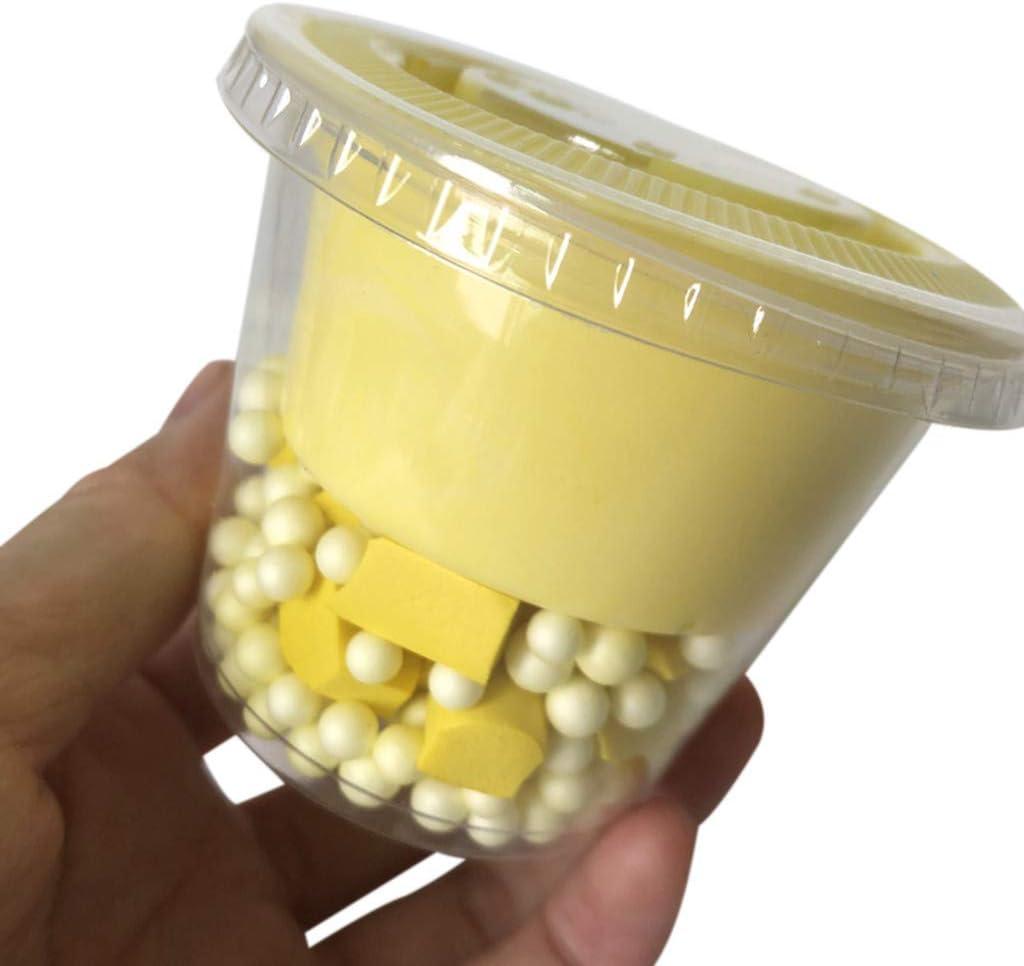 DIY Fluffy Slime EIS Perlen Mischen von Crystal Puff Slime Baumwollschaum Tonspielzeug Geschenke Squishies steigen langsam auf Erwachsene Jungen und M/ädchen